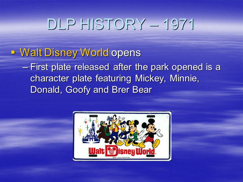DLP HISTORY – 1971 Walt Disney World opens