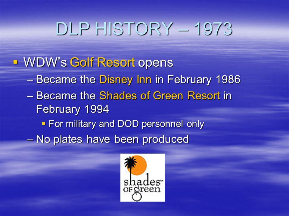 DLP HISTORY – 1973 WDW's Golf Resort opens