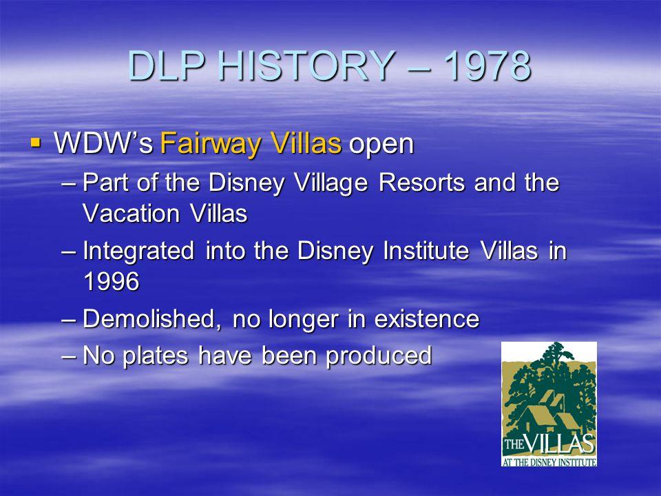 DLP HISTORY – 1978 WDW's Fairway Villas open