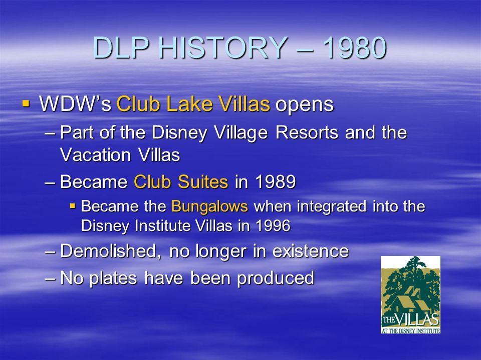 DLP HISTORY – 1980 WDW's Club Lake Villas opens