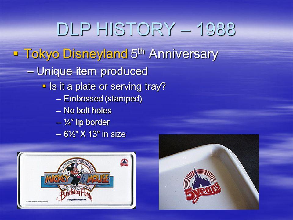 DLP HISTORY – 1988 Tokyo Disneyland 5th Anniversary