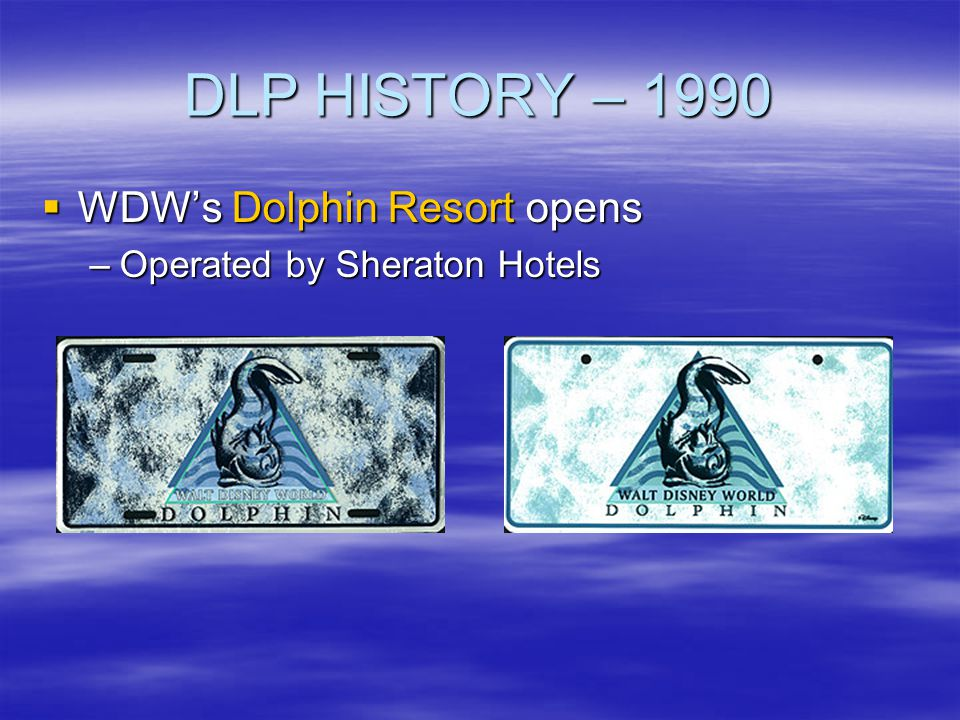 DLP HISTORY – 1990 WDW's Dolphin Resort opens