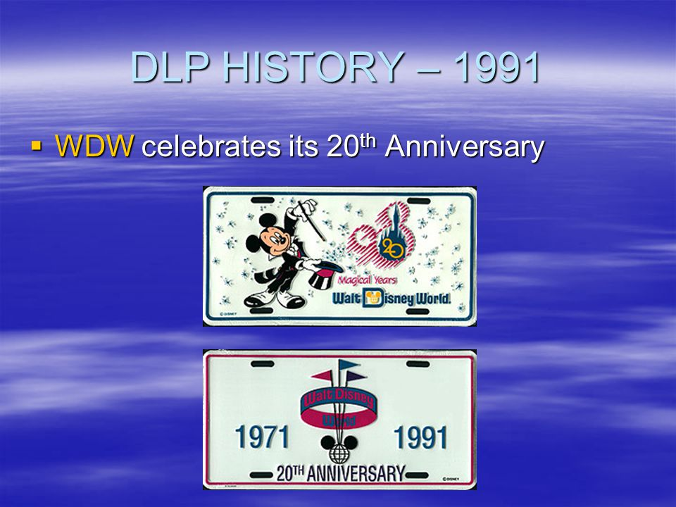 DLP HISTORY – 1991 WDW celebrates its 20th Anniversary