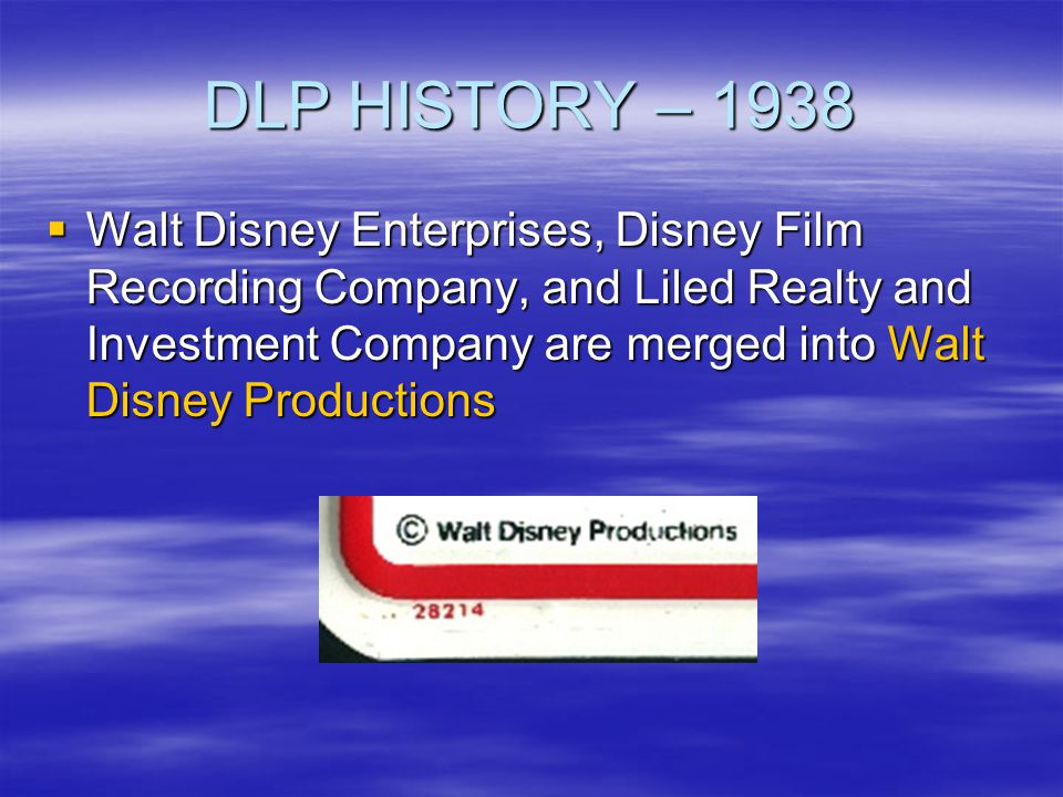 DLP HISTORY – 1938