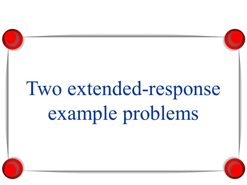 Two extended-response