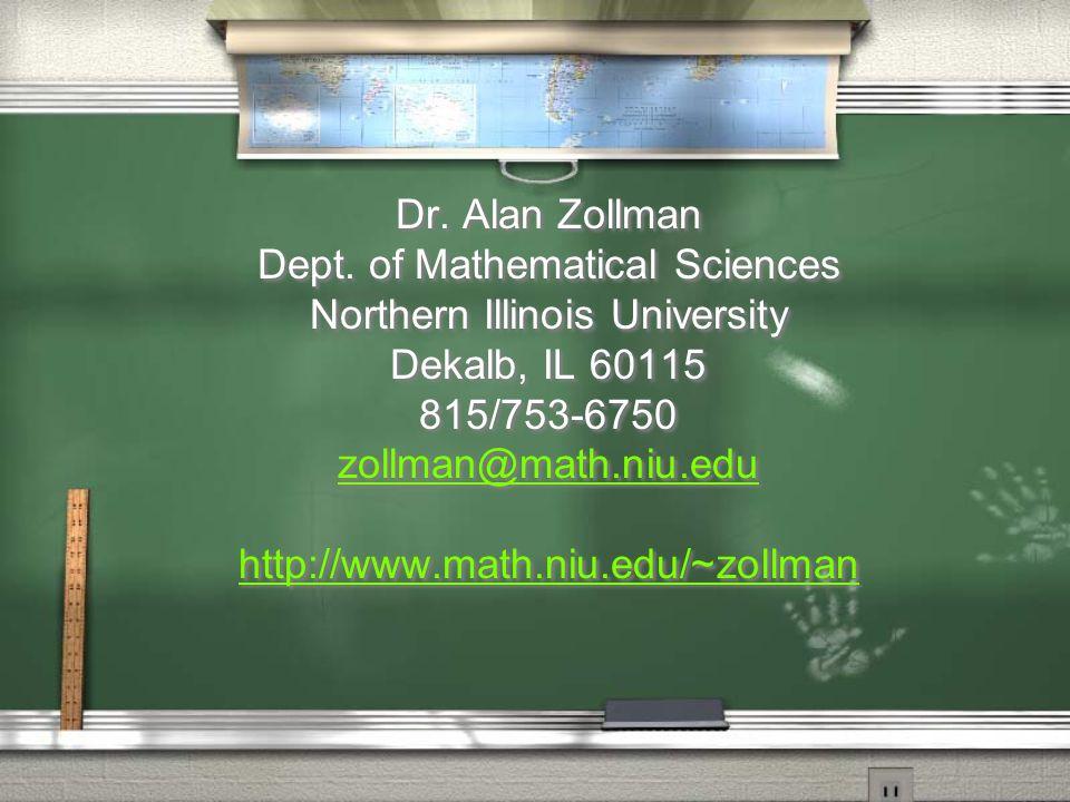 Dr. Alan Zollman Dept.