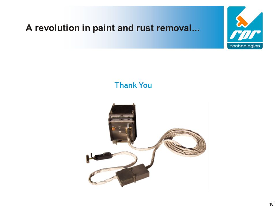 A revolution in paint and rust removal...