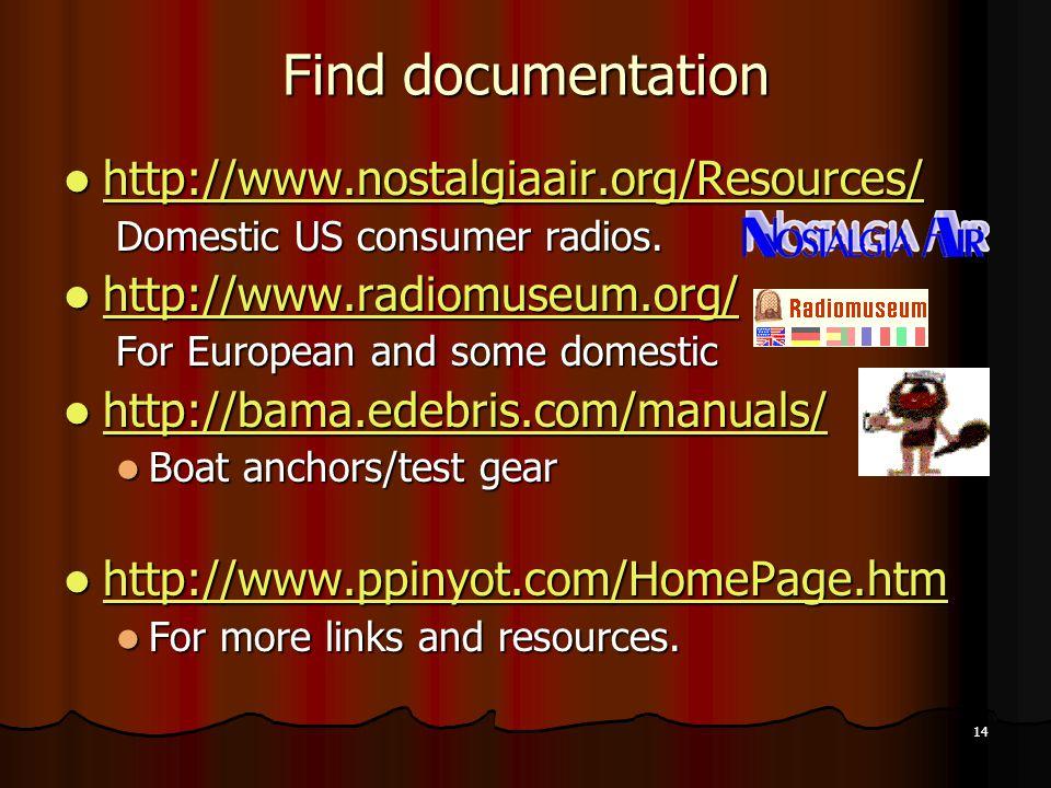 Find documentation http://www.nostalgiaair.org/Resources/