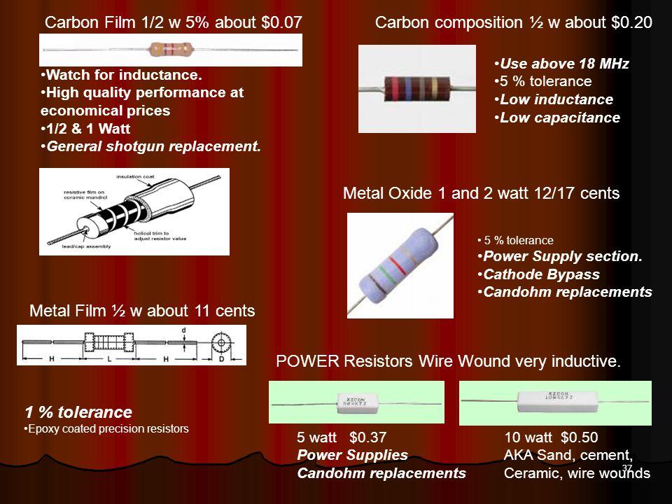 Carbon composition ½ w about $0.20