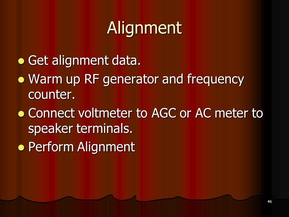 Alignment Get alignment data.
