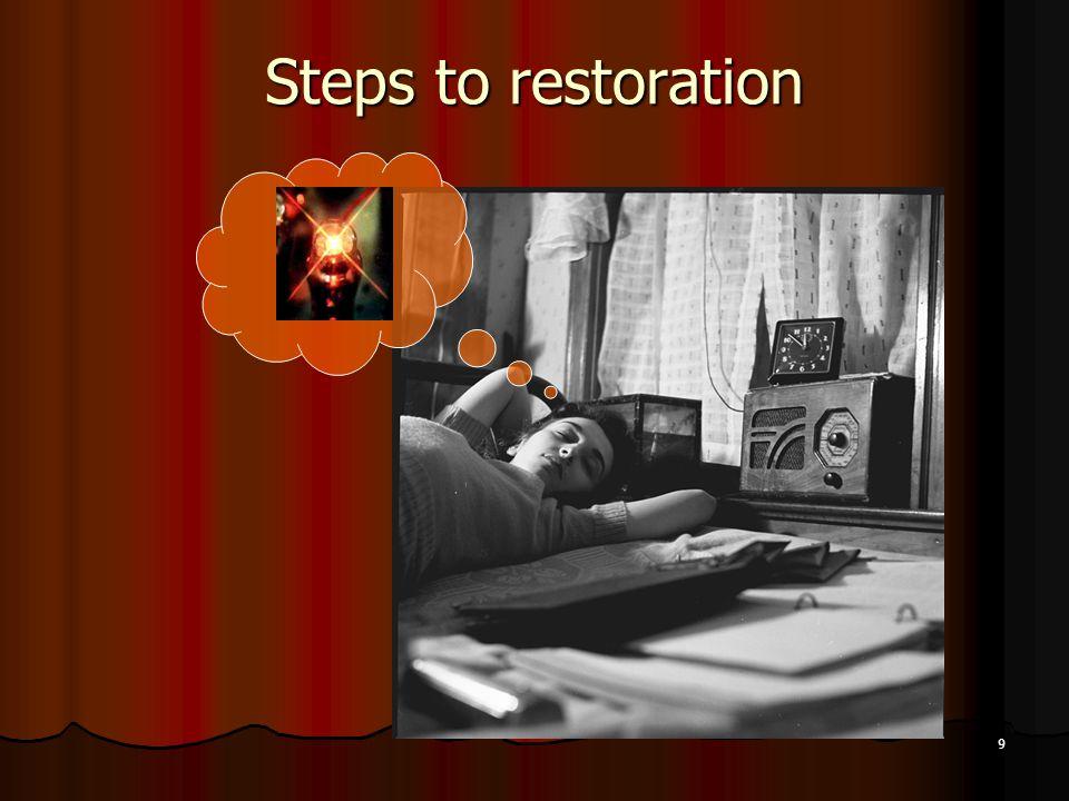 Steps to restoration