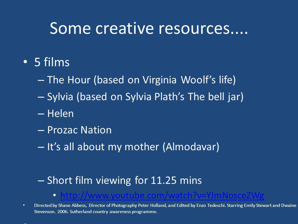 Some creative resources....