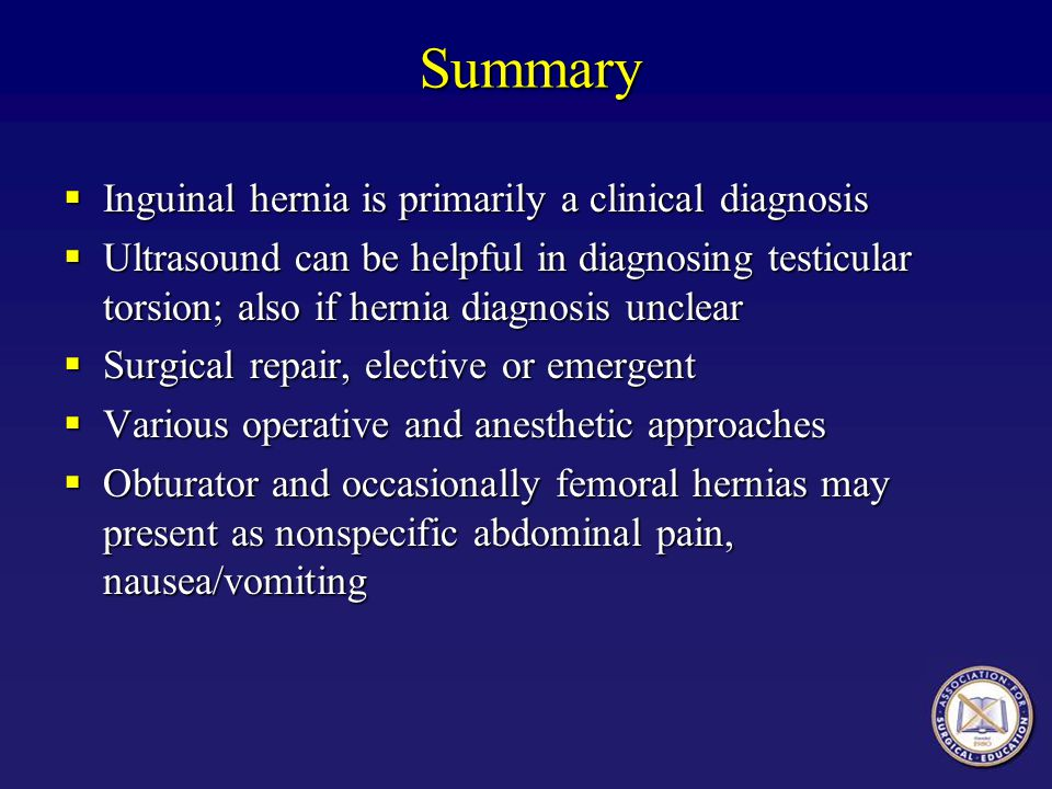 Summary Inguinal hernia is primarily a clinical diagnosis