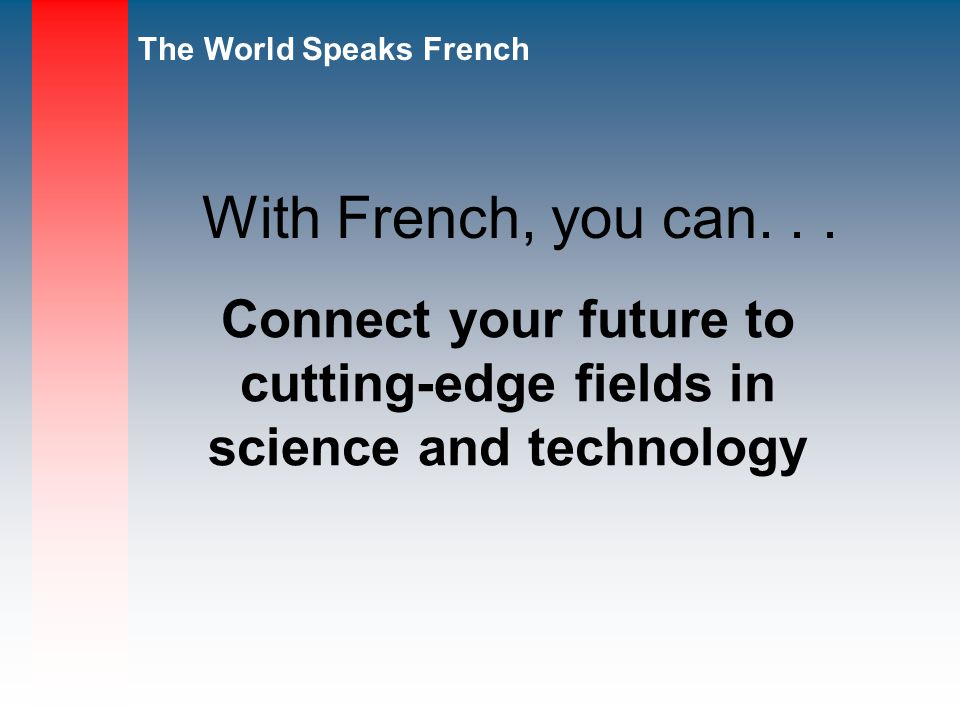 Connect your future to cutting-edge fields in science and technology