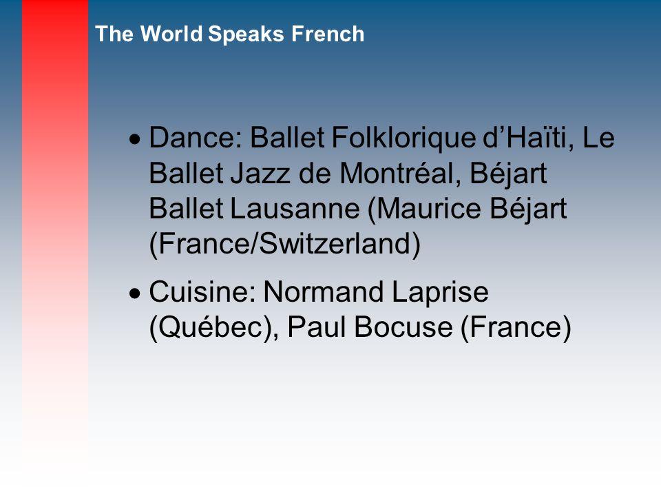 Dance: Ballet Folklorique d'Haïti, Le Ballet Jazz de Montréal, Béjart Ballet Lausanne (Maurice Béjart (France/Switzerland)