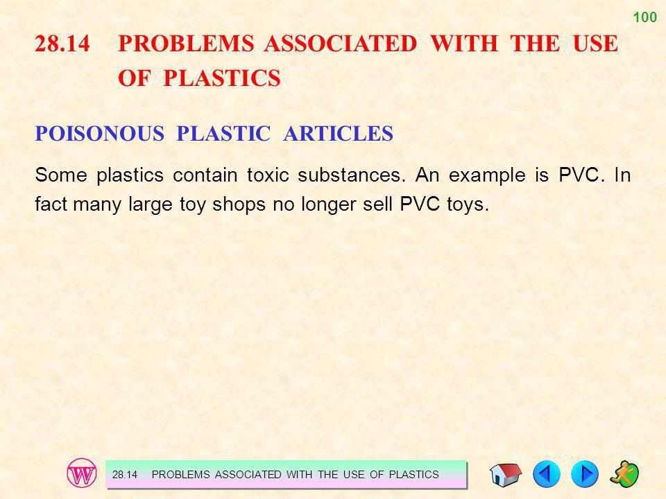 28.14 PROBLEMS ASSOCIATED WITH THE USE OF PLASTICS