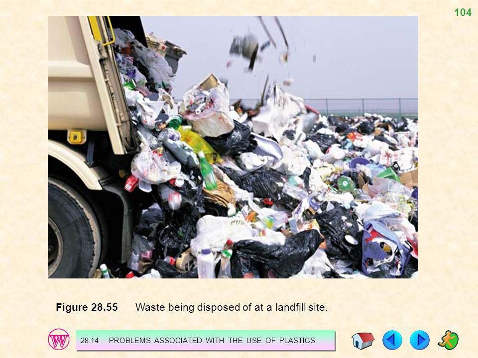 Figure 28.55 Waste being disposed of at a landfill site.