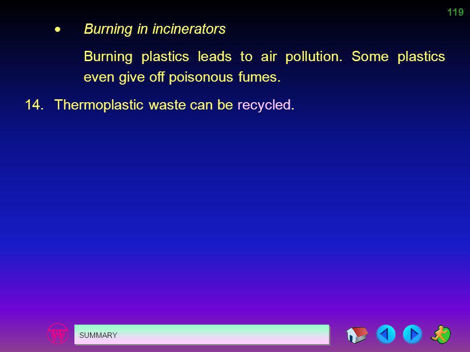  Burning in incinerators