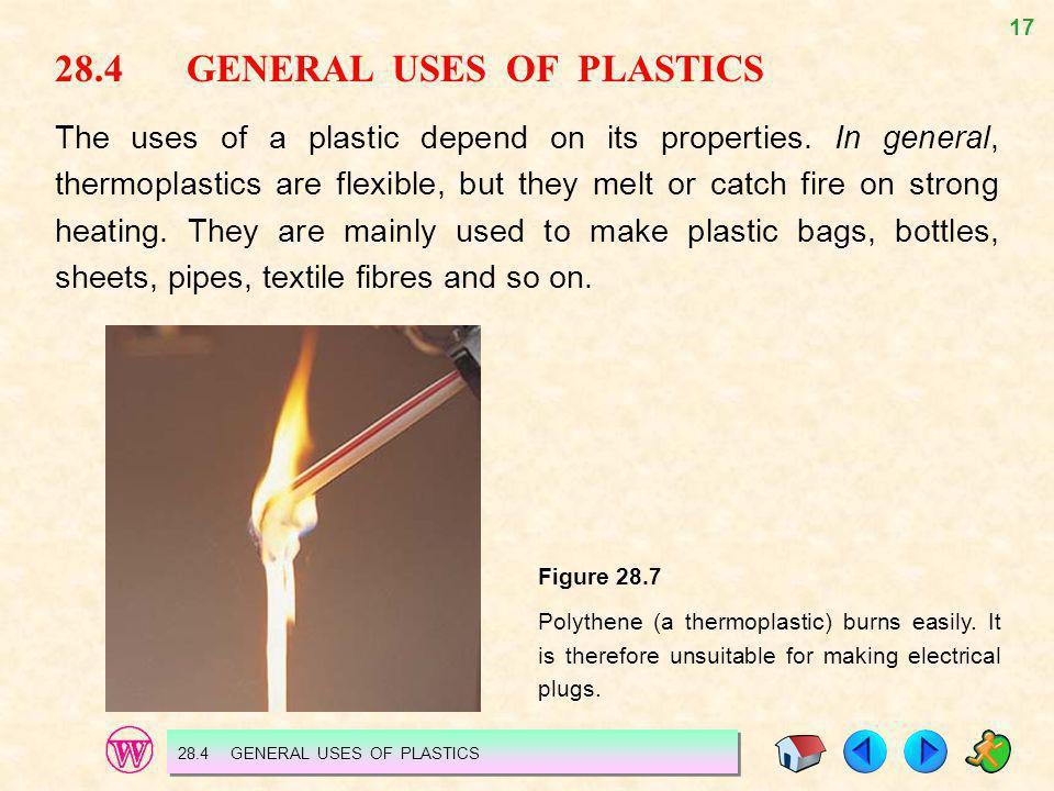 28.4 GENERAL USES OF PLASTICS