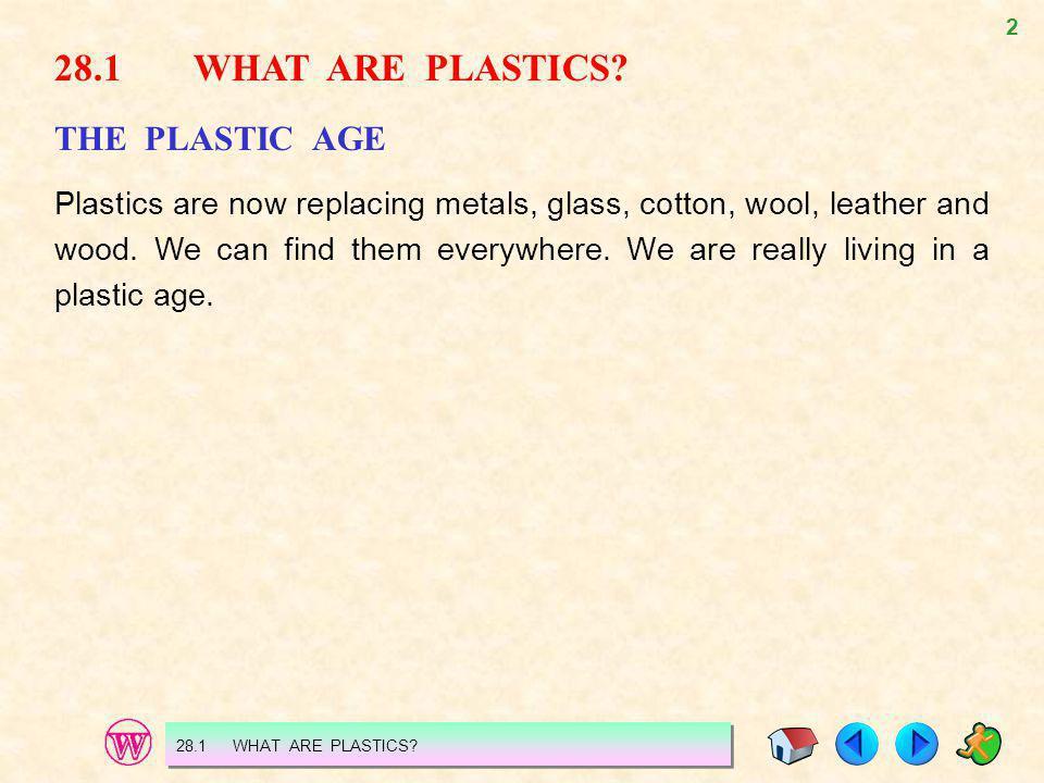 28.1 WHAT ARE PLASTICS THE PLASTIC AGE