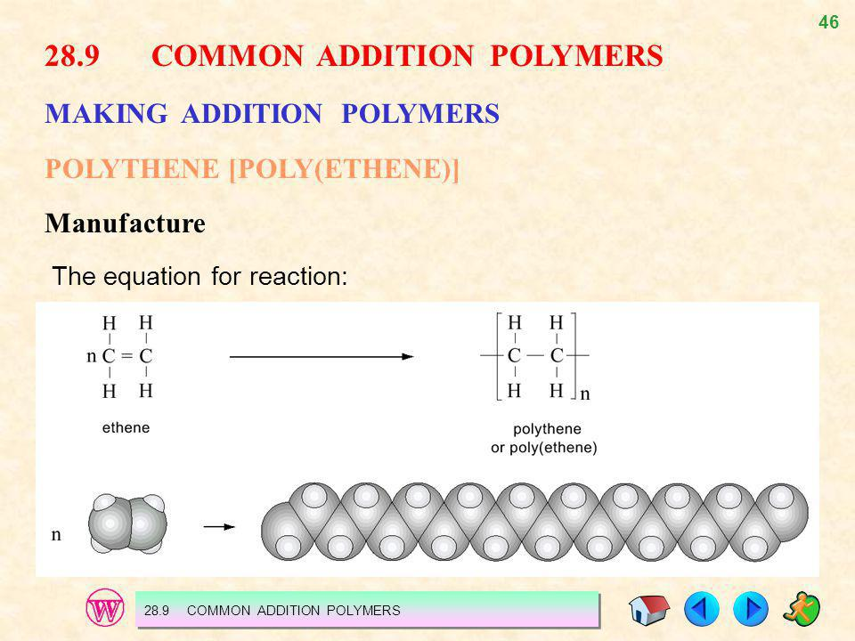 28.9 COMMON ADDITION POLYMERS