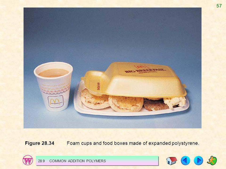 Figure 28.34 Foam cups and food boxes made of expanded polystyrene.