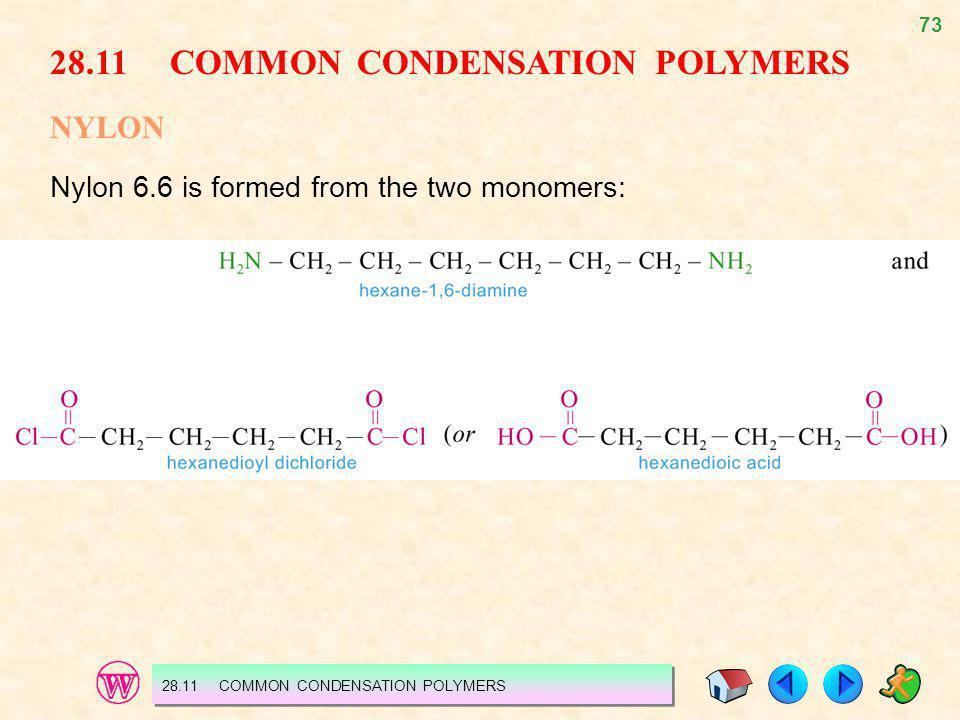 28.11 COMMON CONDENSATION POLYMERS