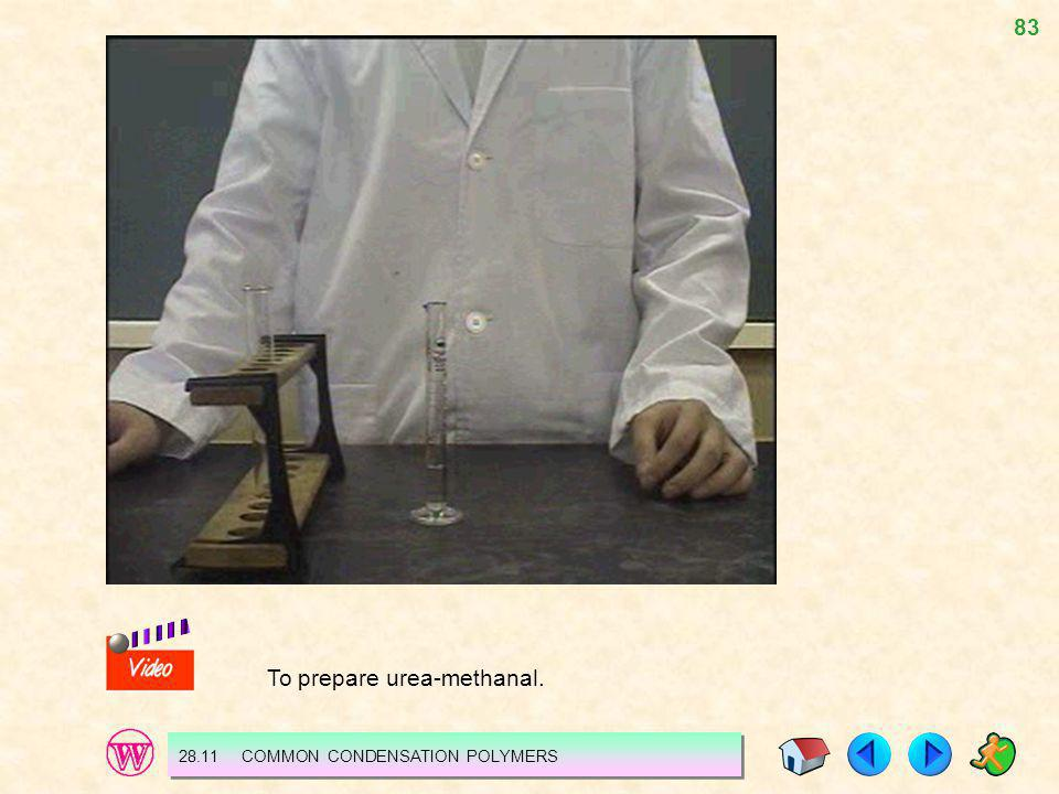 To prepare urea-methanal.
