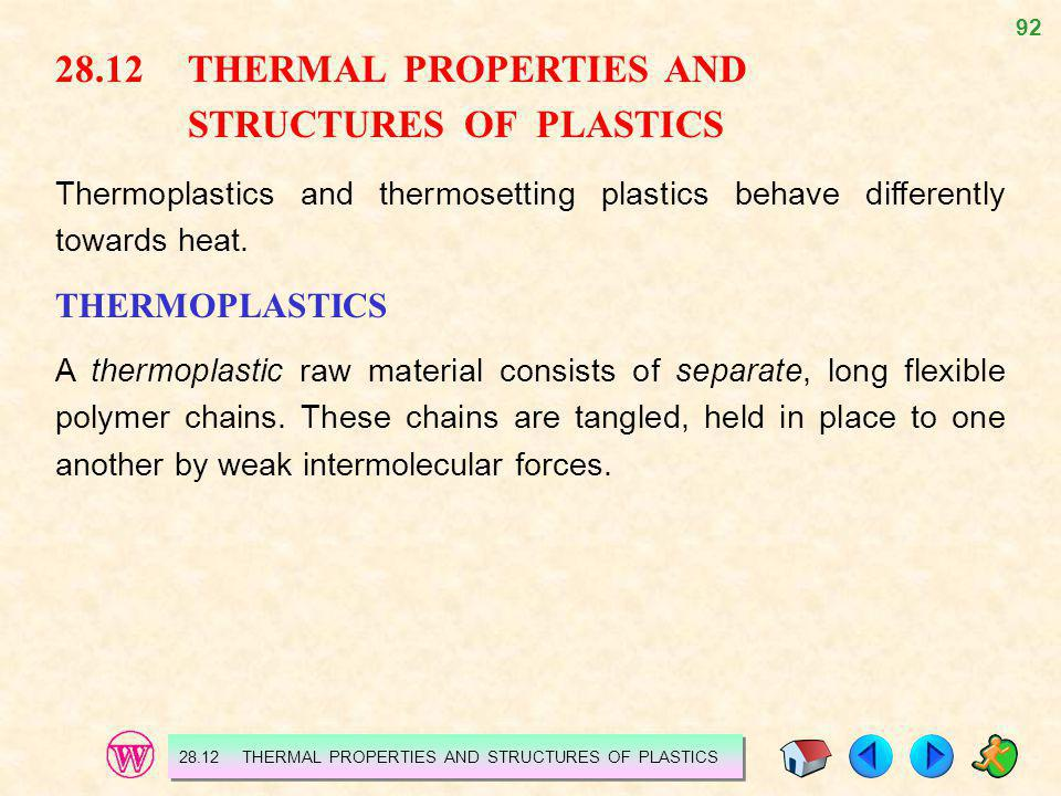 28.12 THERMAL PROPERTIES AND STRUCTURES OF PLASTICS