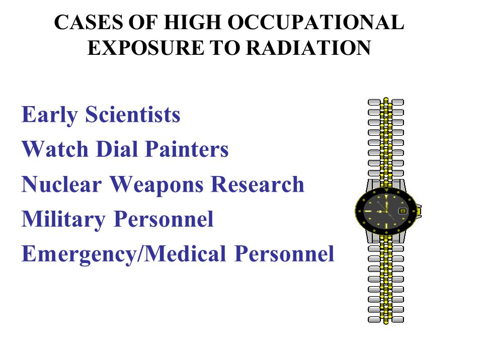 CASES OF HIGH OCCUPATIONAL EXPOSURE TO RADIATION