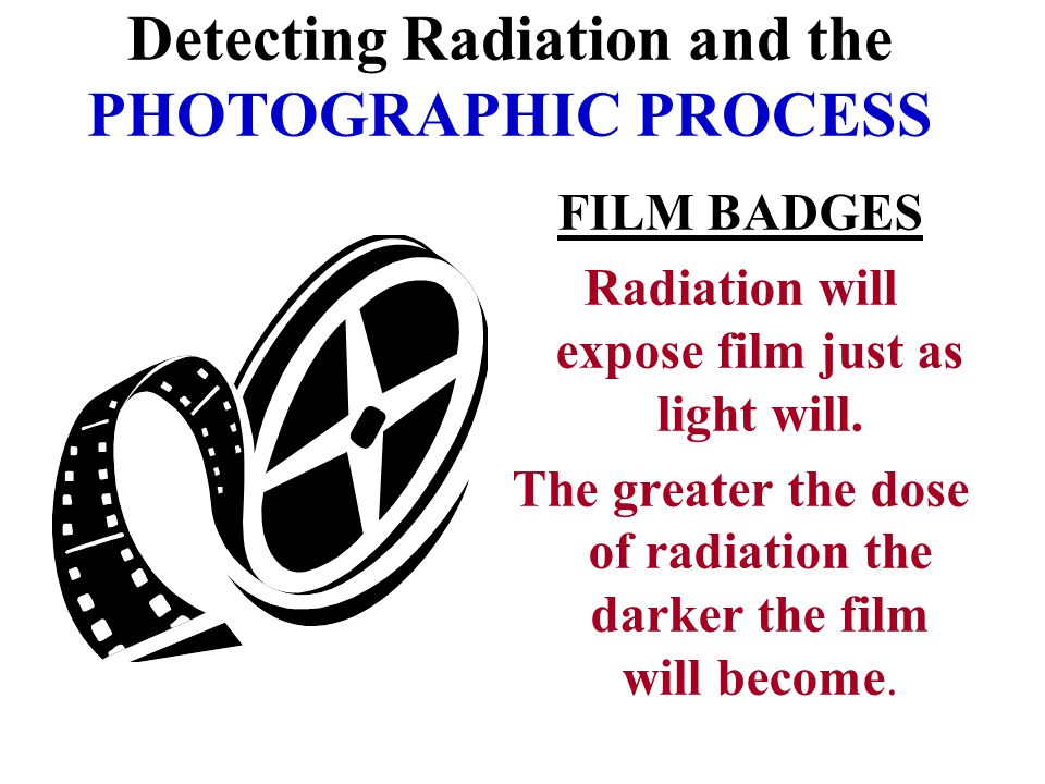 Detecting Radiation and the PHOTOGRAPHIC PROCESS