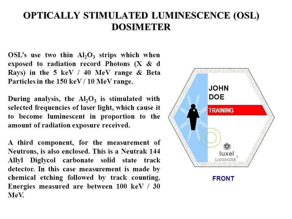 OPTICALLY STIMULATED LUMINESCENCE (OSL) DOSIMETER