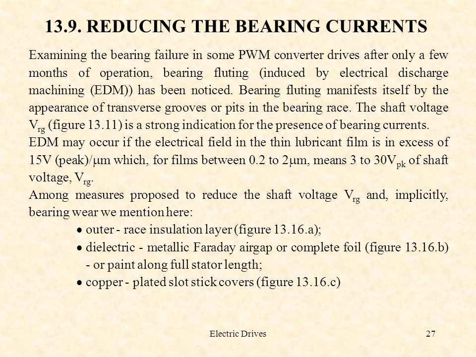 13.9. REDUCING THE BEARING CURRENTS