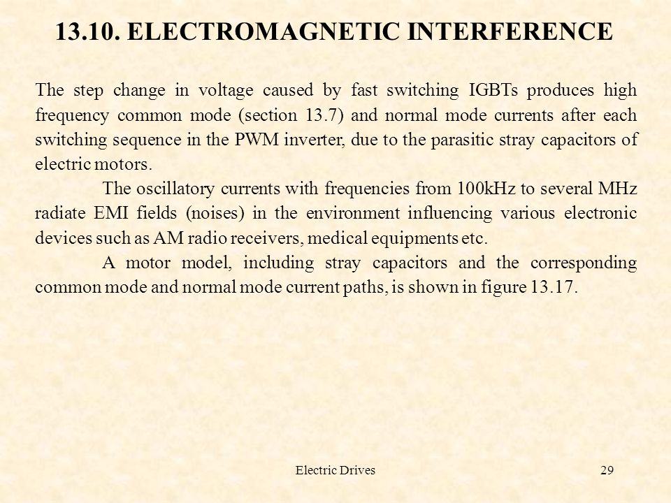 13.10. ELECTROMAGNETIC INTERFERENCE