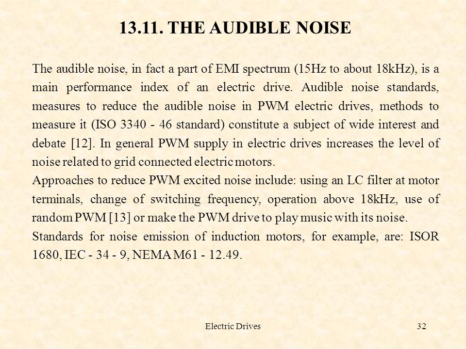 13.11. THE AUDIBLE NOISE