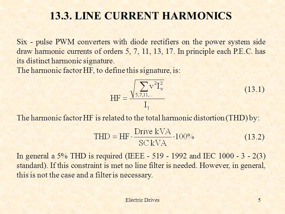 13.3. LINE CURRENT HARMONICS