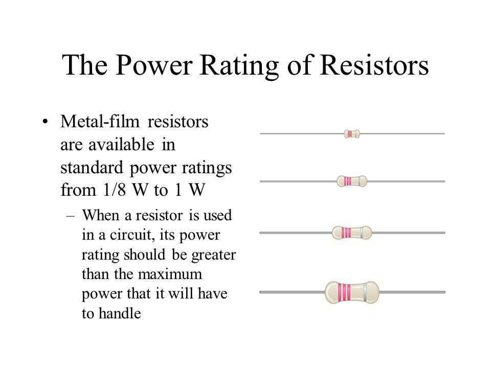 The Power Rating of Resistors