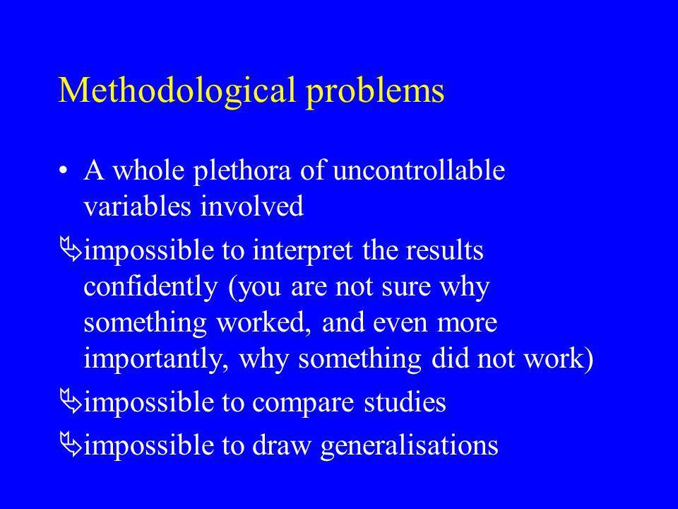 Methodological problems
