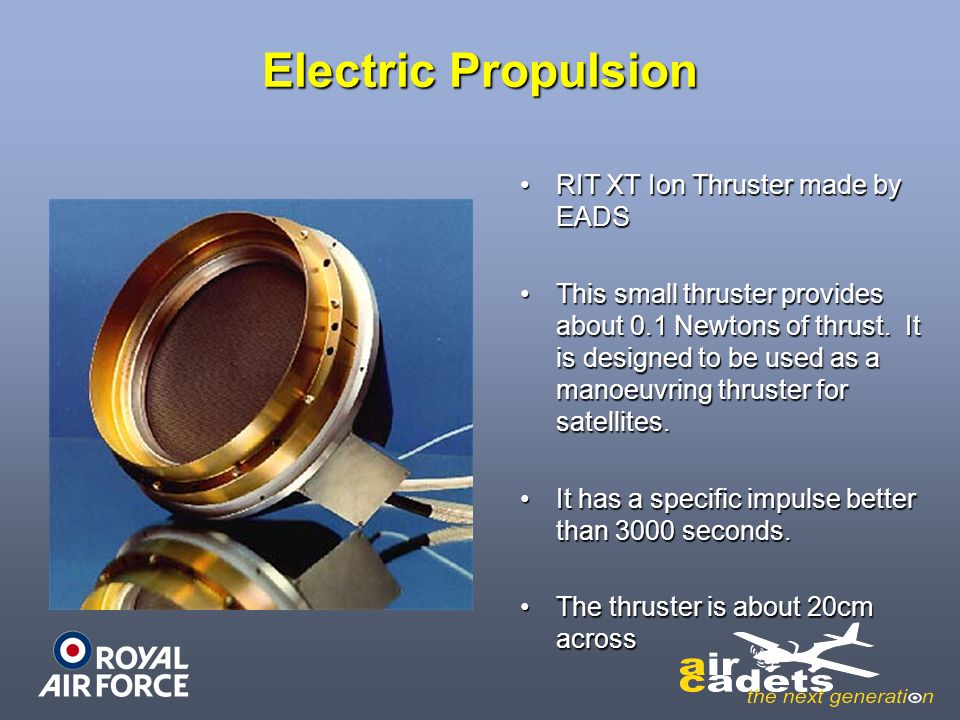 Electric Propulsion RIT XT Ion Thruster made by EADS