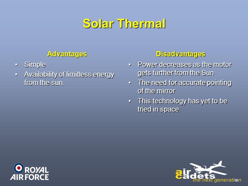 Solar Thermal Advantages Disadvantages Simple