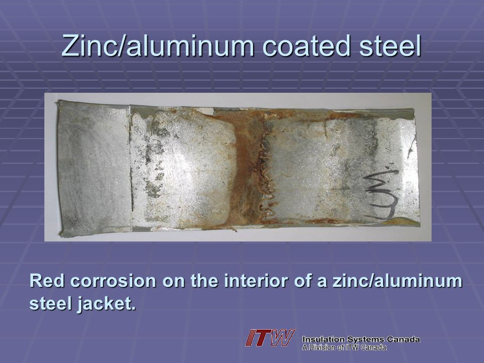 Zinc/aluminum coated steel