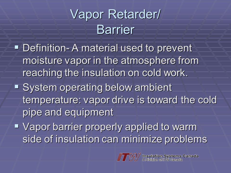 Vapor Retarder/ Barrier