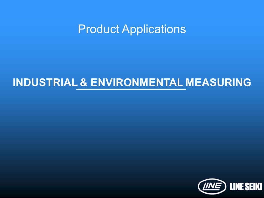 INDUSTRIAL & ENVIRONMENTAL MEASURING