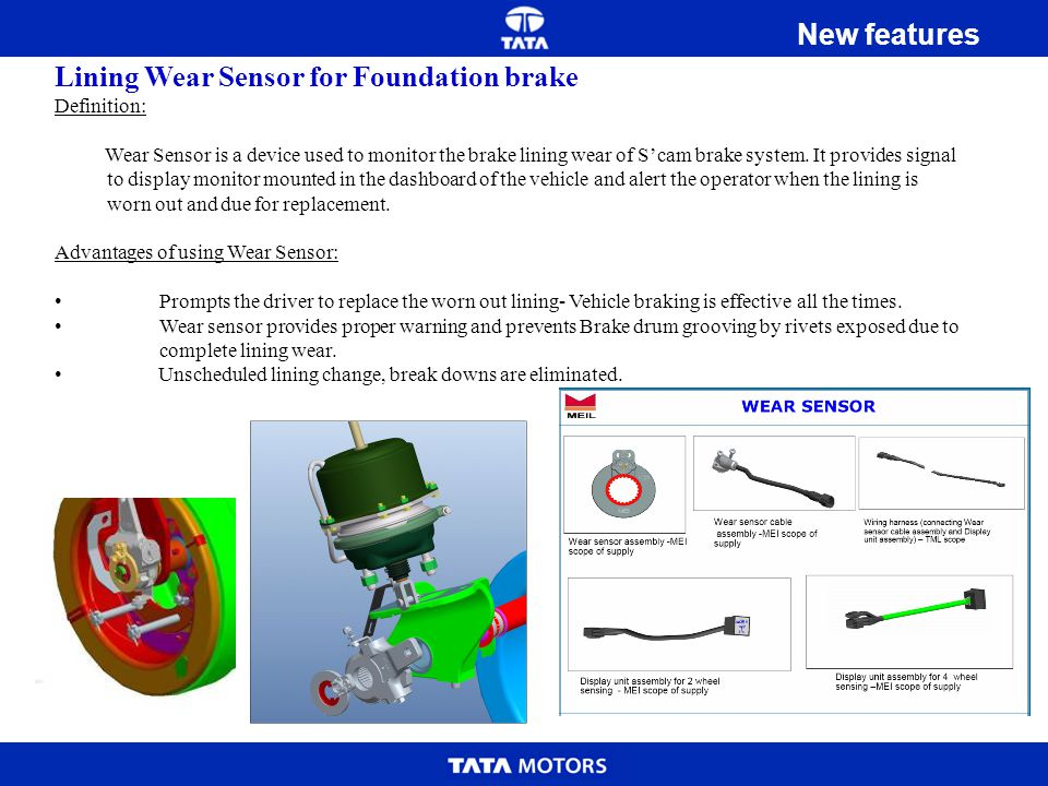 Lining Wear Sensor for Foundation brake
