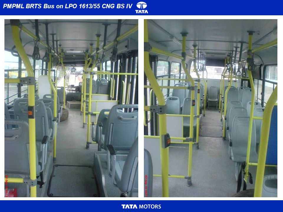 PMPML BRTS Bus on LPO 1613/55 CNG BS IV