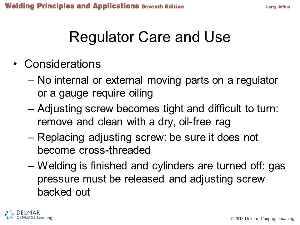 Regulator Care and Use Considerations