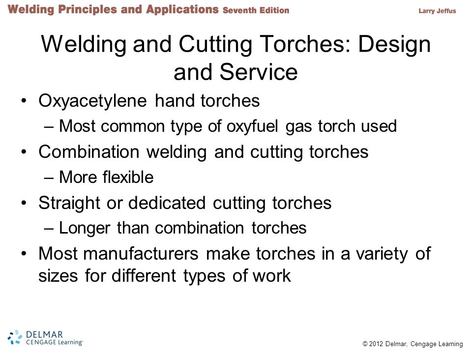 Welding and Cutting Torches: Design and Service