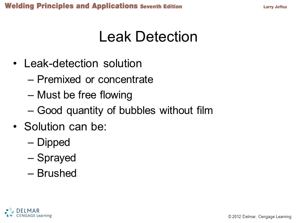 Leak Detection Leak-detection solution Solution can be: