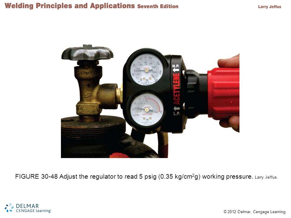 FIGURE 30-48 Adjust the regulator to read 5 psig (0