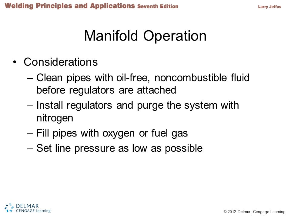 Manifold Operation Considerations
